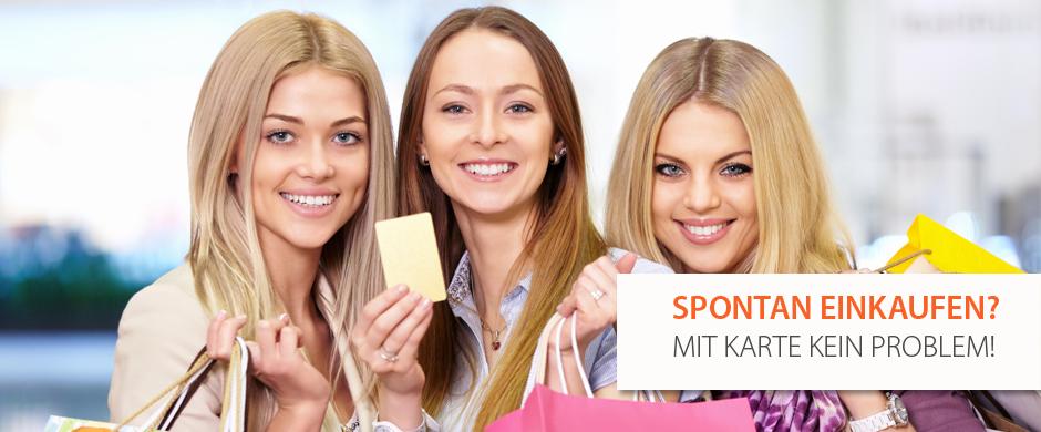 Spontan Einkaufen? Mit Karten kein Problem